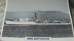 HMS Battleaxe 1945 Destroyer warship framed picture (2)